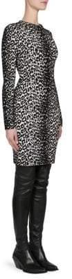 Givenchy Knit Leopard Jacquard Sheath Dress