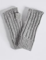 Marks and Spencer Diamanté Cable Knit Gloves