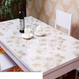WYMCD Pvc tablecloth waterproof anti-hot table tablecloth coffee table mat transparent