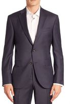 Saks Fifth Avenue Collection Modern Geometric Wool Suit Jacket