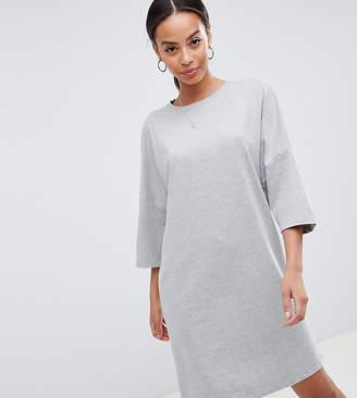 Noisy May Tall Long Sweat Dress-Grey