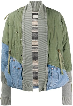 Greg Lauren Army denim kimono jacket