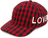 Gucci embroidered check hat