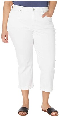 NYDJ, Plus Size NYDJ Plus Size Plus Size Chloe Capri Jeans in Optic White (Optic White) Women's Jeans