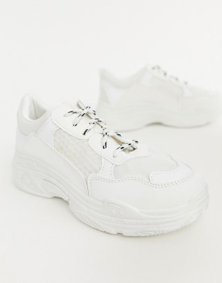 Public Desire Fiyah white chunky sneakers