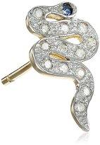 Kacey K White Mini Diamond Single Snake Stud Earrings (5/8cttw, SI1-SI2 Clarity)