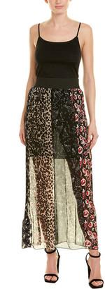 Anna Sui Artisan Soiree Silk Maxi Skirt