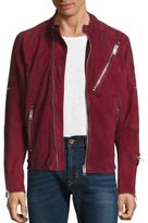 Diesel Mackson Sheepskin Leather Moto Jacket
