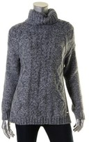 Tommy Hilfiger Womens Cable Knit Long Sleeves Turtleneck Top