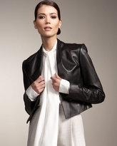 Jason Wu for Tse Cropped Leather Jacket