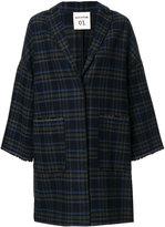 Semi-Couture Semicouture checked coat