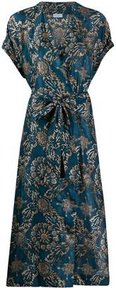 Brunello Cucinelli Silk Wrap-Style Midi Dress