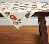 Pottery Barn Embroidered Gourds Table Throw