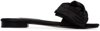 NewbarK black Eva Satin Slides