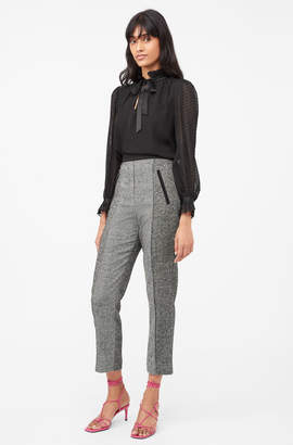 Rebecca Taylor Tailored Herringbone Pant