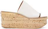 Chloé White Camille Wedge Mules