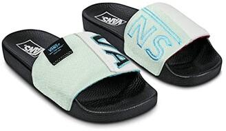 Vans Slide-On ((Mesh) True White/Black) Slide Shoes