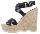Saint Laurent Patent Leather Espadrille Sandals