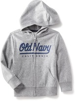 Old Navy Logo Zip-Front Fleece Hoodie for Toddler Boys