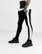 Asos Design DESIGN super skinny jogger with side stripe