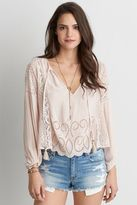 American Eagle Outfitters AE Cropped Long Sleeve Top