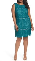 Adrianna Papell Plus Size Women's Lace A-Line Dress