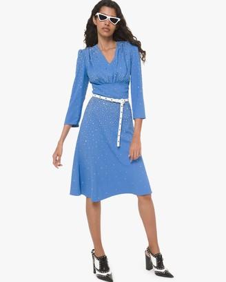 Michael Kors Collection Embellished Flare Dress