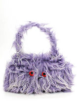 Meadham Kirchhoff Purple Faux Fur Mini Monster Satchel Handbag $1160