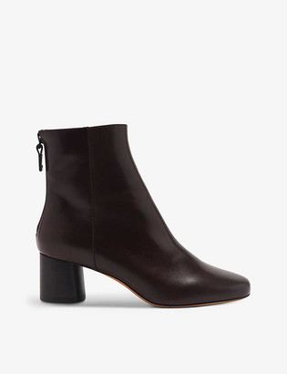 Sandro Camilla smooth-leather block-heel ankle boots