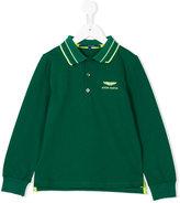 Aston Martin Kids printed logo polo shirt