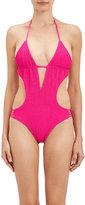 Tori Praver Swimwear WOMEN'S SMOCKED MONOKINI-PINK SIZE M