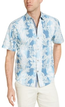 Tommy Bahama Men's Bluewater Stripe Graphic Shirt