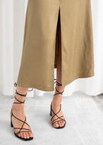 Thumbnail for your product : And other stories Front Slit A-Line Midi Skirt