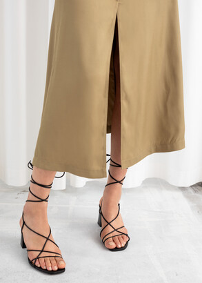 And other stories Front Slit A-Line Midi Skirt