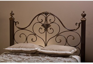 Copper Grove Elster Goldtone Metal and Wood Headboard