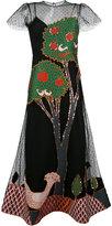 RED Valentino flared appliqué dress