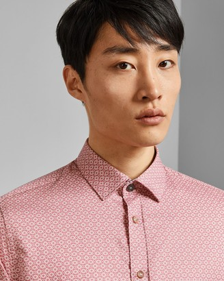 Ted Baker Small Print Cotton Shirt