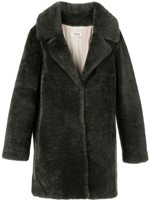 Yves Salomon Meteo Teddy single-breasted coat