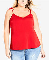 City Chic Trendy Plus Size Tie-Strap Camisole