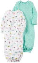 Carter's Baby Girl 2-pk. Polka-Dot & Butterfly Sleeper Gowns
