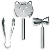 Wmf/Usa Faces Bar set with Strainer (3 PC)