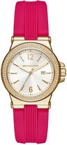 Michael Kors Women's Mini Dylan Sporty Pink Silicone Strap Watch 33mm MK2488