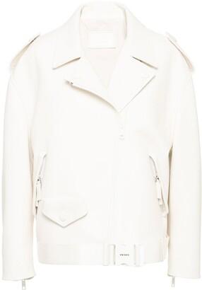 Prada Zipped Biker Jacket