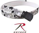 Rothco Camo Reversible Web Belt, Woodland Camo/Olive Drab