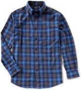 Roundtree & Yorke Casuals Long-Sleeve Plaid Flannel Sportshirt