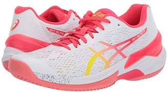 Asics Sky Elite FF (White/Laser Pink) Women's Volleyball Shoes