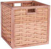 Household Essentials Poplar Wicker Storage Bin