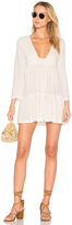 Stillwater Tiered Square Neck Mini Dress