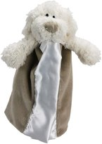 "First Friends First Friends Satin Light Brown Puppy 9"" Blankie with Single Detachable Breast Feeding Pacifier"
