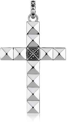 Thomas Sabo Blackened Sterling Studded Cross Pendant w/Black Zirconia